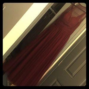 Wine colored formal dress